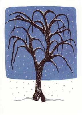 Tree in snowfall I