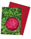 10 x Red bauble in green field by Alexandra de Laszlo, Painting, Watercolour and ink