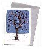 10 x Tree in snowfall I by Alexandra de Laszlo, Painting, Gouache