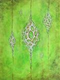 Cocoon field for invisible pupae by Alexandra de Laszlo, Painting, Acrylic on paper