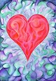 Pop Art Heart by Alexandra de Laszlo, Giclee Print, Watercolour on Paper